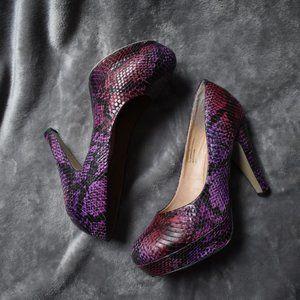 Madden Girl Faux Snake Skin Platform Heel Sz 8